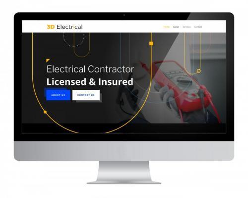 Website Design 3D Electrical
