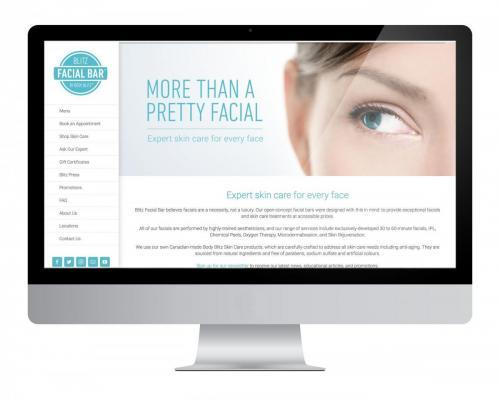 Website Design Blitz Facial Bar