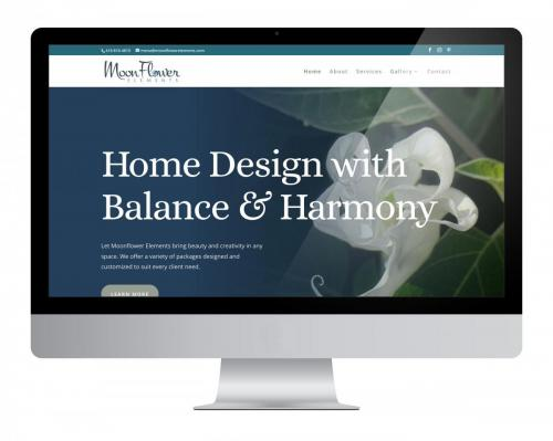 Website Design Moon Flower